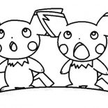 Pichu, Pichu Surprised Face Coloring Page: Pichu Surprised Face Coloring Page