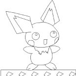 Pichu, Pichu And Ligting Coloring Page: Pichu and Ligting Coloring Page