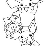 Pichu, Pichu Is Born Coloring Page: Pichu is Born Coloring Page