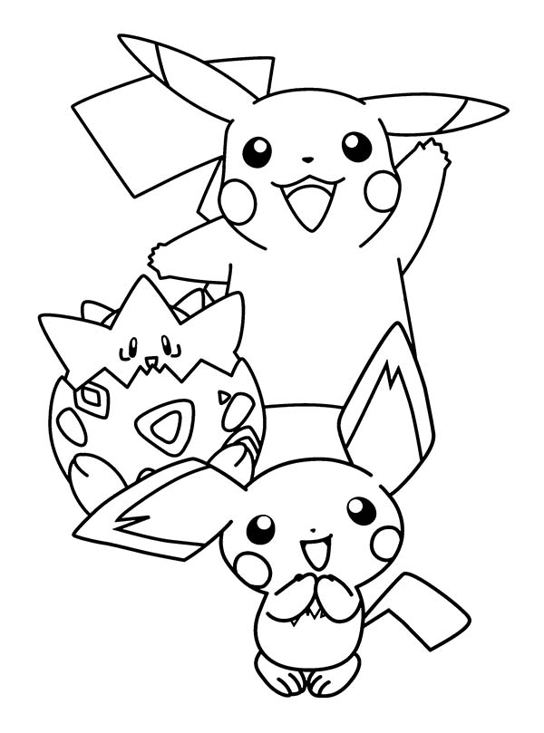Pichu, : Pichu is Born Coloring Page