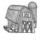 Barn, Picture Of Barn Coloring Page: Picture of Barn Coloring Page