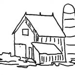 Barn, Picture Of Barnsilo Coloring Page: Picture of Barnsilo Coloring Page
