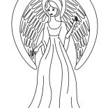 Angels, Picture Of Beautiful Angels Coloring Page: Picture of Beautiful Angels Coloring Page