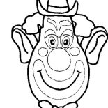 Clown, Picture Of Clown Head Coloring Page: Picture of Clown Head Coloring Page