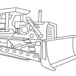 Digger, Picture Of Digger Tractor Coloring Page: Picture of Digger Tractor Coloring Page