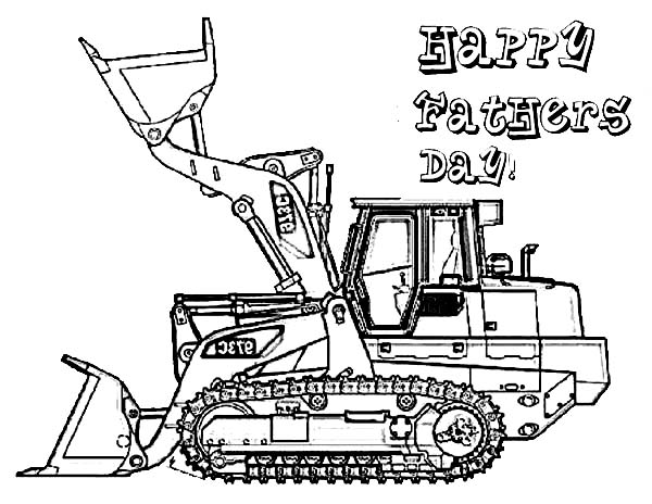 Digger, : Picture of Digger on Fathers Day Coloring Page