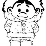 Eskimo, Picture Of Eskimo Boy Coloring Page: Picture of Eskimo Boy Coloring Page