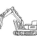 Digger, Picture Of Excavator In Digger Coloring Page: Picture of Excavator in Digger Coloring Page