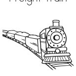 Trains, Picture Of Freight Train Coloring Page: Picture of Freight Train Coloring Page
