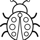 Lady Bug, Picture Of Lady Bug Coloring Page: Picture of Lady Bug Coloring Page