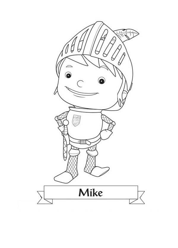 Mike the Knight, : Picture of Mike the Knight Coloring Page