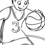 NBA, Picture Of NBA Coloring Page: Picture of NBA Coloring Page