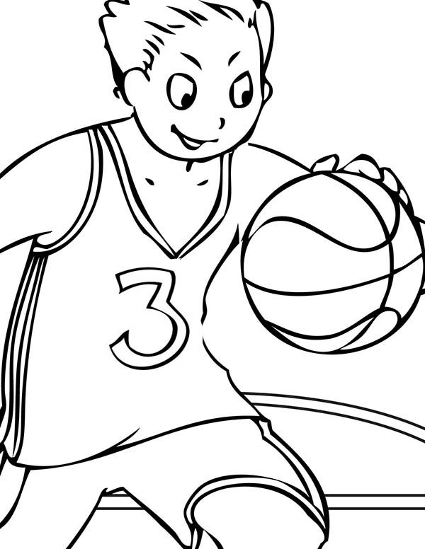 NBA, : Picture of NBA Coloring Page