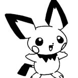 Pichu, Picture Of Pichu Coloring Page: Picture of Pichu Coloring Page