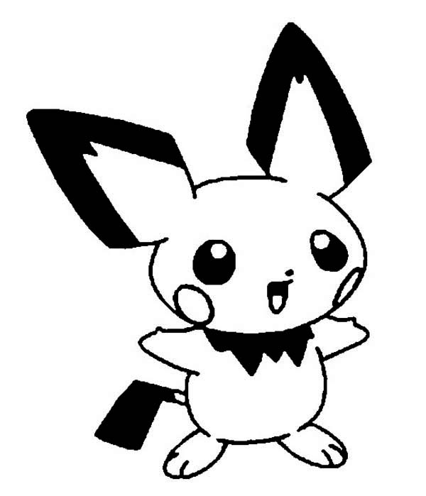 Pichu, : Picture of Pichu Coloring Page