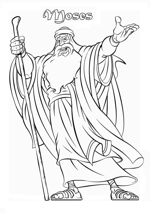 Moses, : Picture of Prophet Moses Coloring Page