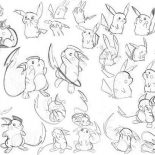 Raichu, Picture Of Raichu Coloring Page: Picture of Raichu Coloring Page