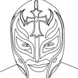 Wrestling, Picture Of Rey Mysterio Coloring Page: Picture of Rey Mysterio Coloring Page