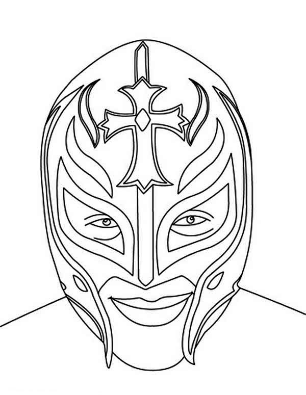 Wrestling, : Picture of Rey Mysterio Coloring Page