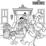 Sesame Street, Picture Of Sesame Street Coloring Page: Picture of Sesame Street Coloring Page