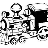 Trains, Picture Of Steam Train Coloring Page: Picture of Steam Train Coloring Page