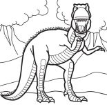 T-Rex, Fairytales 25 Unicorn Coloring Page: Fairytales_25_Unicorn