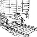 Railroad, Picture Of On Classic Railroad Coloring Page: Picture of on Classic Railroad Coloring Page