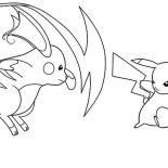 Raichu, Pikachu Vs Raichu Coloring Page: Pikachu vs Raichu Coloring Page