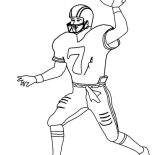 NFL, Player Number 7 In NFL Coloring Page: Player Number 7 in NFL Coloring Page