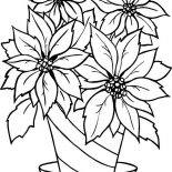 Poinsettia, Poinsettia In Flowerpot Coloring Page: Poinsettia in Flowerpot Coloring Page