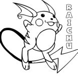 Awesome Picture Of Raichu Coloring Page Color Luna