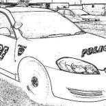 Police Car, Police Car Drawing Coloring Page: Police Car Drawing Coloring Page