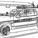 Police Car, Police Car Raid O Criminal House Coloring Page: Police Car Raid o Criminal House Coloring Page