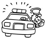 Police Car, Police Car Station Coloring Page: Police Car Station Coloring Page