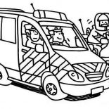 Police Car, Police Car And Motorcycle Coloring Page: Police Car and Motorcycle Coloring Page