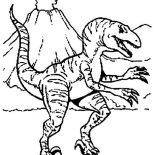 T-Rex, Pre History Animal T Rex Coloring Page: Pre History Animal T Rex Coloring Page
