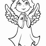 Angels, Pretty Little Angels Praying Coloring Page: Pretty Little Angels Praying Coloring Page