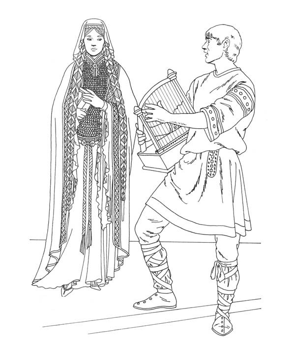 coloring pages middle ages - photo#17
