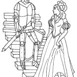 Middle Ages, Prince And Princess In Middle Ages Coloring Page: Prince and Princess in Middle Ages Coloring Page