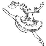 Ballerina, Professional Ballerina Coloring Page: Professional Ballerina Coloring Page