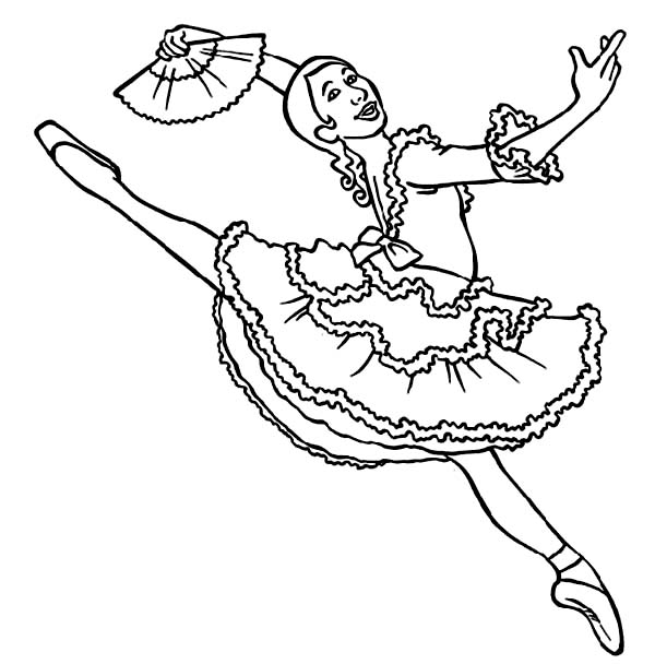 Ballerina, : Professional Ballerina Coloring Page