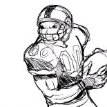 NFL, Professional Player Of NFL Coloring Page: Professional Player of NFL Coloring Page