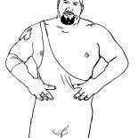 Wrestling, Professional Wrestling Athlete Coloring Page: Professional Wrestling Athlete Coloring Page