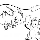 Raichu, Raichu Learn To Attack Coloring Page: Raichu Learn to Attack Coloring Page