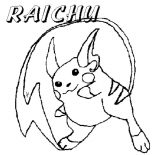 Raichu, Raichu Long Tail Coloring Page: Raichu Long Tail Coloring Page
