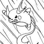 Raichu, Raichu In Action Coloring Page: Raichu in Action Coloring Page