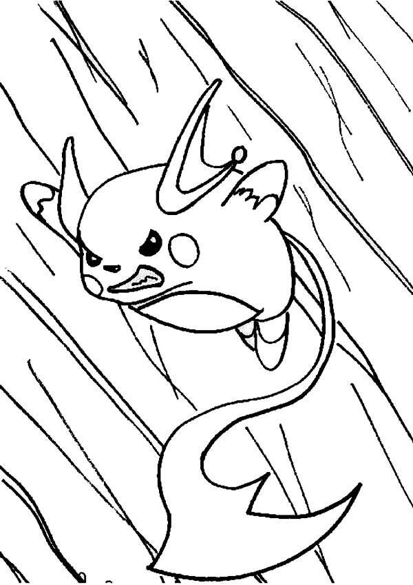 Raichu In Action Coloring Page Color Luna
