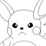 Raichu, Raichu Is Angry Coloring Page: Raichu is Angry Coloring Page