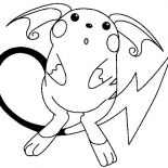 Raichu, Raichu Is Astonished Coloring Page: Raichu is Astonished Coloring Page