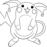 Raichu, Raichu Is Laughing Coloring Page: Raichu is Laughing Coloring Page